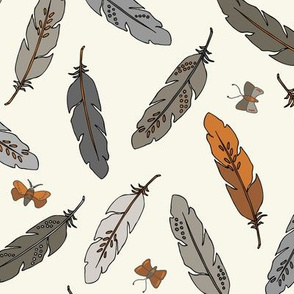 Feathers - Rust, Ivory
