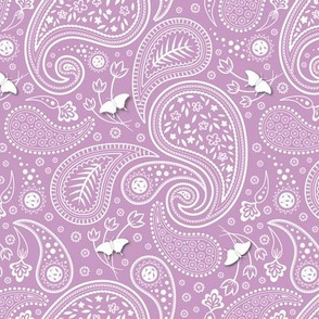 Paisley with butterflies Pink