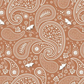 Paisley with butterflies Apricot