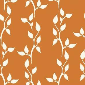 Twig Vines - Ivory, Rust