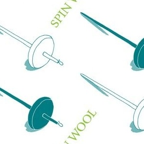 Spin Love with Teal Spindles