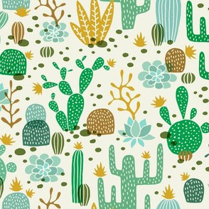 Wolf cactus desert green/mustard