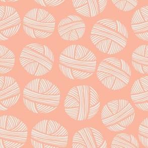 Yarn Balls Pink Peach