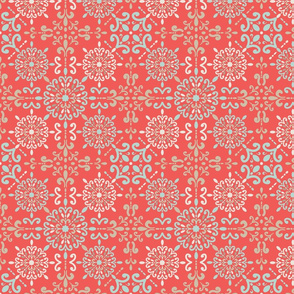 Moroccan Hanky in Coral