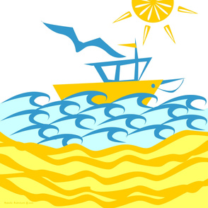 ©2011  Seaboat Shower Curtain