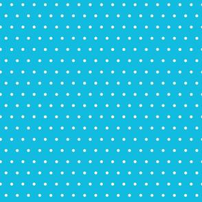 White Polka Dots on Turquoise