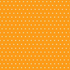 White Polka Dots on Orange