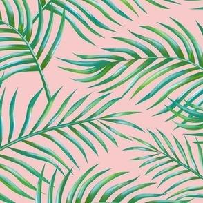 Palm Leaves: Bg Rose