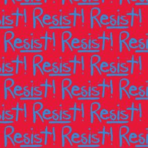 Resist in Blue &  Red