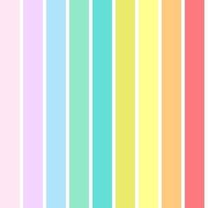 Rainbow Pastel Stripes (Medium)