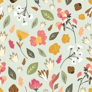 Berry Flower Patch Floral Pattern