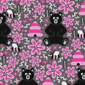 Bears and Bees (Pink)