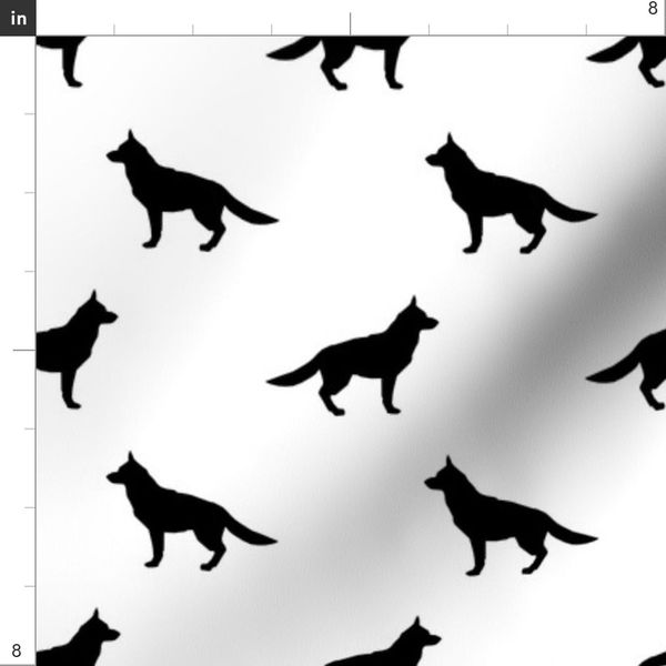 German Shepherd Silhouette Dog Fabric Wh Spoonflower 50+ vectors, stock photos & psd files. fabric by the yard german shepherd silhouette dog fabric white