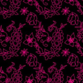 Project 286 | Florals | Hot Pink on Black