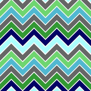 Chevron Blue Green