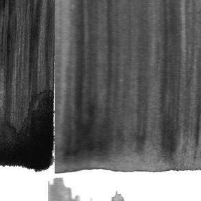 Large Black and White New York paint