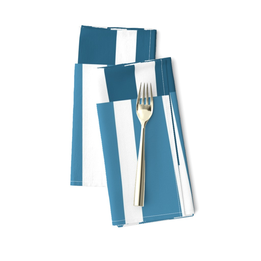 Amarela Dinner Napkins featuring Modern Ocean: Stripes (Blue) by rbgcreations