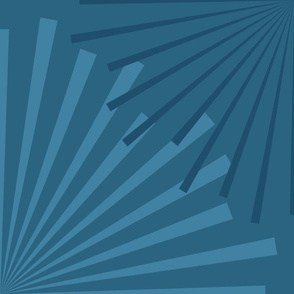 Modern Ocean: Sunburst (Blue)
