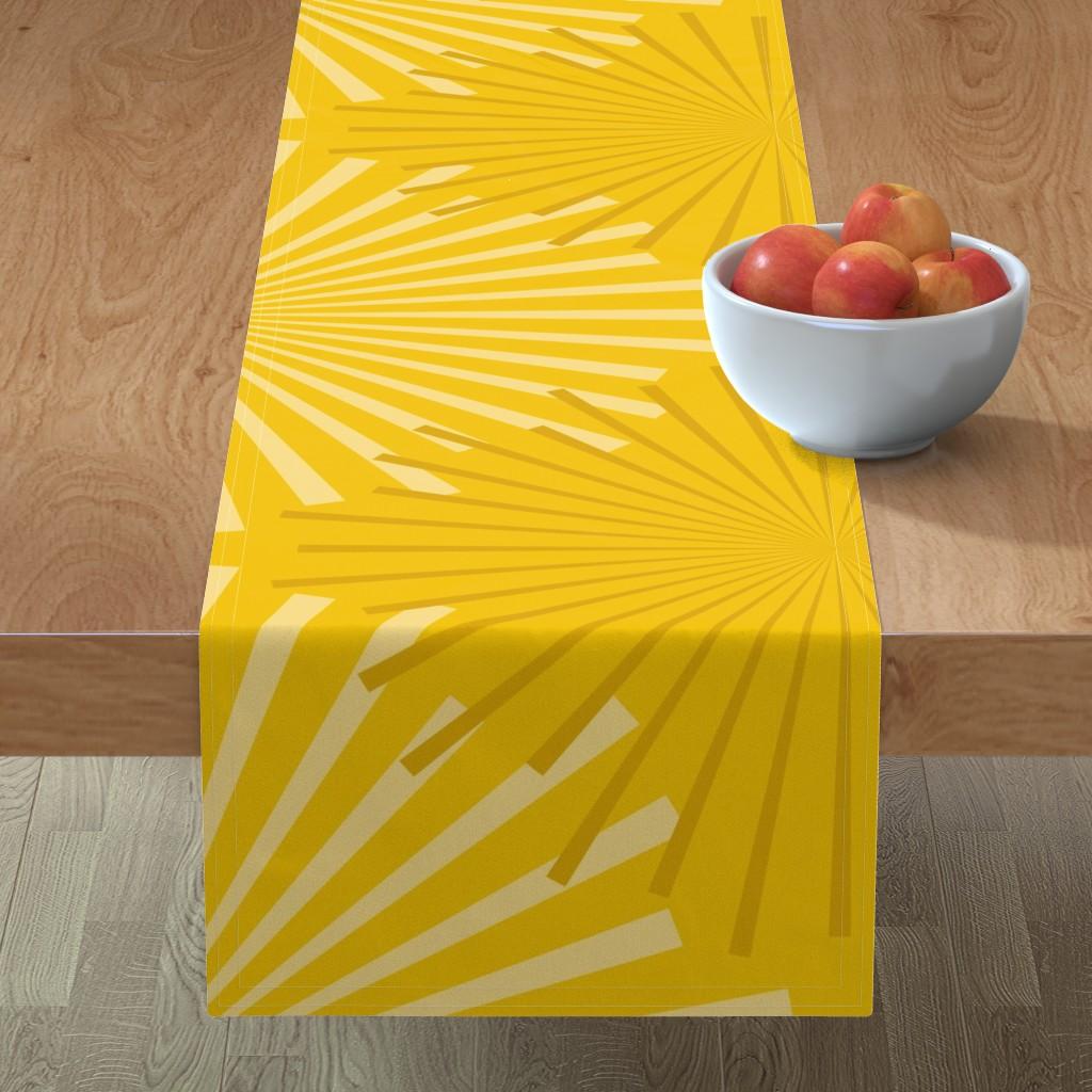 Minorca Table Runner featuring Modern Ocean: Sunburst (Yellow) by rbgcreations