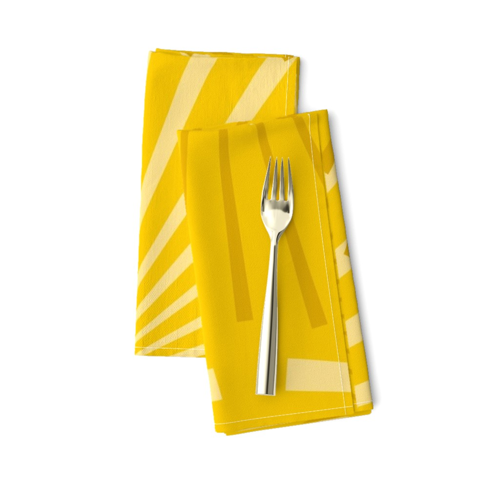 Amarela Dinner Napkins featuring Modern Ocean: Sunburst (Yellow) by rbgcreations