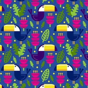 Tropical Toucans (Blue)
