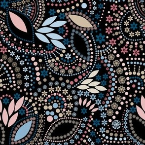 A scattering of beads . Rustic pattern, vintage pattern