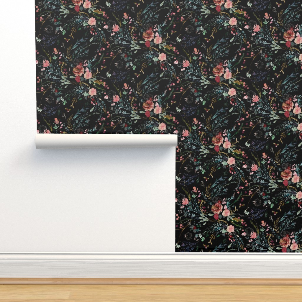 Fable Floral Black On Isobar By Nouveau Bohemian Roostery Home