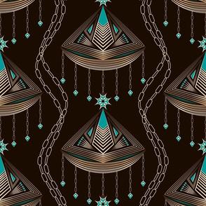 Art deco fashion jewelry  pattern