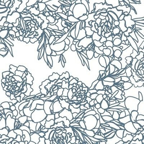 Floral Whimsical Garden Jumbo (Bluestone)