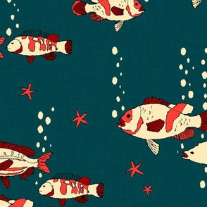 Fish_and_bubble__red_and_blue_
