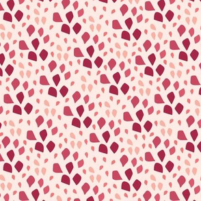 Ombre Petal Drops Coral Pink Red
