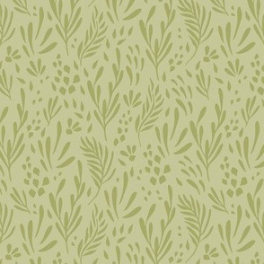 Darling Green Medley Leaves and Foilage