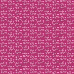 Tiny Pink and Nasty Woman Linen Design
