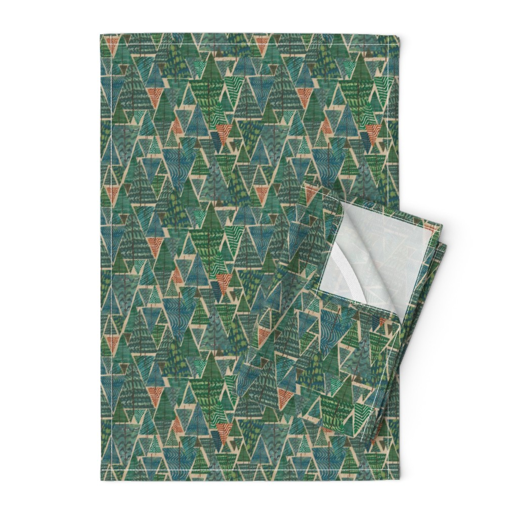 Orpington Tea Towels featuring A Walk in the Woods by sarah_treu