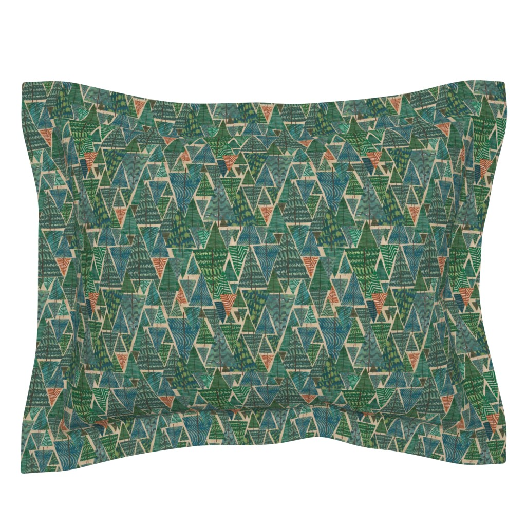 Sebright Pillow Sham featuring A Walk in the Woods by sarah_treu