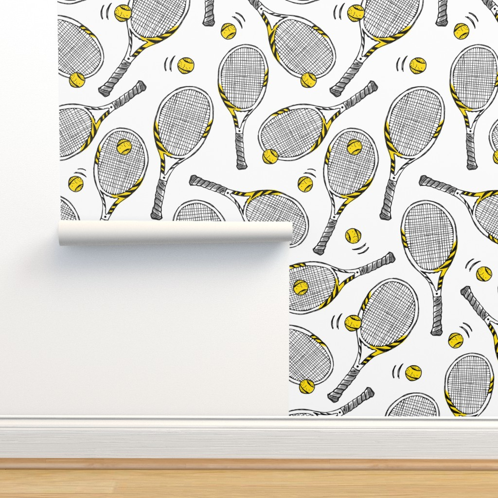Isobar Durable Wallpaper featuring Tennis rackets - sport game by revista