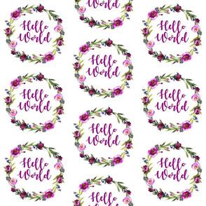 hello world purple swaddle