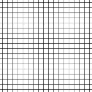 """black and white windowpane grid 1"""" square check graph paper"""