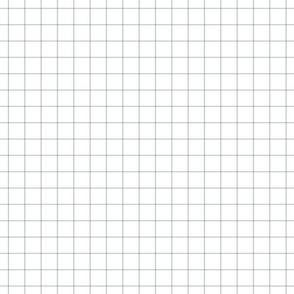 "sterling grey windowpane grid 1"" square check graph paper"