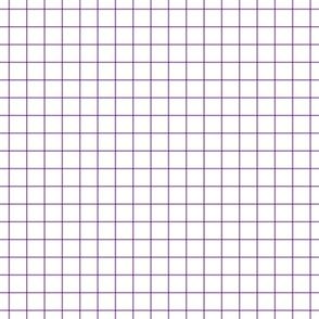 "amethyst windowpane grid 1"" square check graph paper"