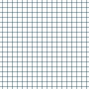 "navy blue windowpane grid 1"" square check graph paper"