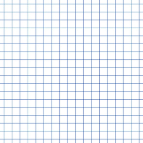 """cornflower blue windowpane grid 1"""" square check graph paper"""