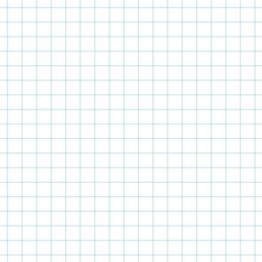 """ice blue windowpane grid 1"""" square check graph paper"""