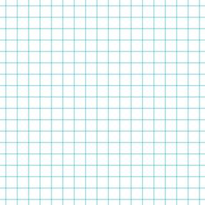 """sky blue windowpane grid 1"""" square check graph paper"""