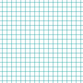 """surfer blue windowpane grid 1"""" square check graph paper"""