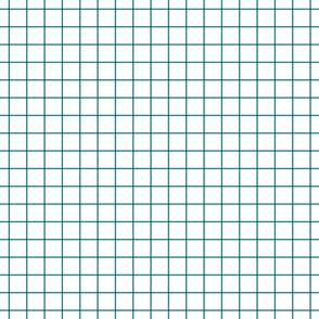 "dark teal windowpane grid 1"" square check graph paper"