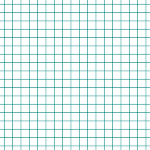"teal windowpane grid 1"" square check graph paper"