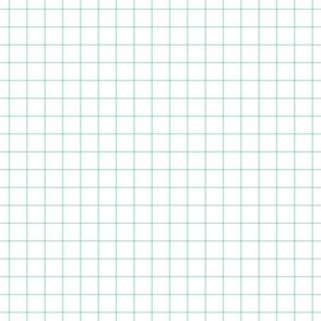 "mint green windowpane grid 1"" square check graph paper"