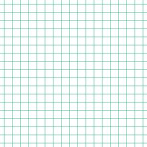 """sea foam green windowpane grid 1"""" square check graph paper"""