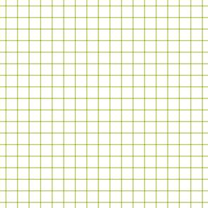 "lime green windowpane grid 1"" square check graph paper"